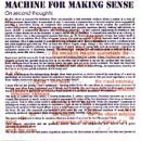 The Machine for Making Sense